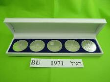 1971 ISRAEL 5 PIDYON HABEN COINS 117g PURE SILVER + GIFT BOX + RABBI CERTIFICATE
