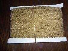 (0,67€/m) alte goldene Borte Metallborte, Höhe ca. 1,5cm 50m auf einer Pappe