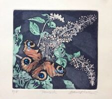 "David Koster ""Peacock"" Butterfly. Etching. Artist's Proof"
