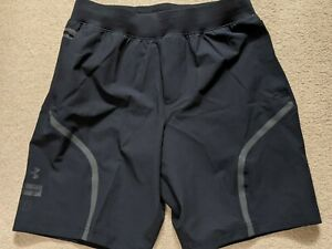 "*BRAND NEW* UNDER ARMOUR Unstoppable 9.5"" fitted Shorts Black Size Large"