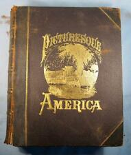 Picturesque America Volume 1 Antique Book D Appleton Co New York 1872 Bryant (O)