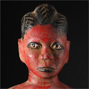 11395 Antiguo Baule Fetiche Presentir Figura Ancestro Colon Costa de Marfil