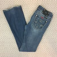 Miss Me JP5342B Women's Embellished Boot Cut Jeans Size 29 E26