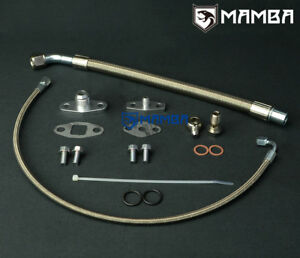 MAMBA Turbo Oil Feed & Return Drain Line Kit For VOLVO 740 940 w/ Garrett T3 T4