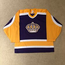 Rare Vintage 80's Los Angeles Kings CCM Hockey Jersey NHL Purple Yellow Crown