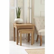 Provence Oak Nest of Lamp Tables - Delivery Within 10 Days