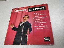 DISQUE VINYLE 33 T TOURS CHARLES AZNAVOURLES DEUX GUITARES CE JOUR
