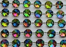 100 Vitrail AB Chandelier Crystals Droplets Cut Glass Beads Wedding Gothic Drops
