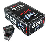 1 6 12 24 OCB PREMIUM MINI ROLLS BLACK SMOKING CIGARETTE ROLLING PAPERS GENUINE