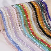 50/100Pcs Lots Faceted Crystal Glass Loose Spacer Beads Craft DIY Jewelry Making
