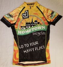 NWT Jakroo Cycling Jersey Awesome Spell Out Logos Graphics Medium