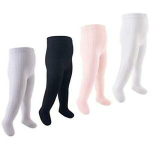 Baby and Toddler Girl Cotton Rich Tights,, Black, Size 18-24 Months q3qc