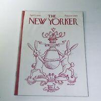 The New Yorker: April 5 1969 Cover Frank Modell Easter Bunny Full Magazine