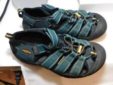 KEEN Youth US 3 EU 35 UK 2 Blue Canvas Leather Waterproof Newport Sandals Shoes