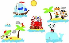 NEW Suncrest FunToSee™ Wall Art Stickers ⚓️ Pirate Boys Bedroom Nursery ☠️