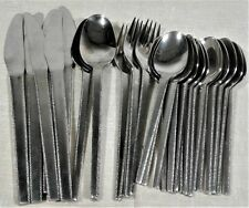 Vintage MCM COSMOS 18-8 Stainless Flatware Mixed Lot/29 Piece Set Spoon Knife