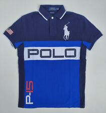 Men Polo Ralph Lauren BIG PONY Mesh Polo Shirt P-15 Size S M - CUSTOM SLIM FIT