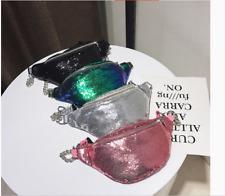 Women PU Leather Waist Fanny Pack Belt Zipper Waist Bag Casual Chest Bag Fashion