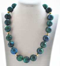 """Round Malachite Bead Necklace S2348 20"""" 20mm Natural Green"""