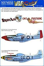 Kits World Decals 1/32 P-51 MUSTANG Fighter Iron Ass & One Mustang/One Musthang