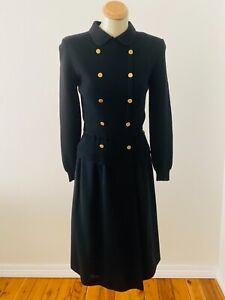 Vintage Ciao Ltd Navy blue wool dress