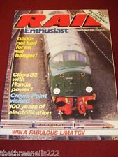 RAIL ENTHUSIAST #25 - 100 YEARS OF ELECTRIFICATION - OCT 1983