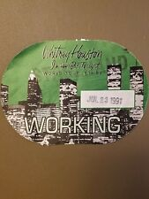 "Whitney Houston Working Crew Pass For ""I'M Your Baby Tonight Tour"" 7/23/91"