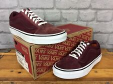 VANS OLD SKOOL WOMENS UK 4 EU 36.5 BURGUNDY OLD SKOOL SCOTCHGARD TRAINERS UNISEX