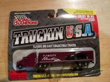 NEW - Racing Champions Truckin USA Plymouth Prowler 1/144 Semi Truck & Trailer