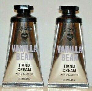 2 Victoria's Secret PINK Vanilla Bean Hand & Body Cream w/ Shea 1 fl oz