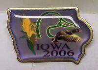DUCKS UNLIMITED Lapel Hat Pin - Iowa 2006 Mallard Pintail Canvasback