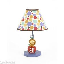 CoCaLo Alphabet Babies Lamp Boy's Nursery Room Decor Lion Owl Colorful Alphabet