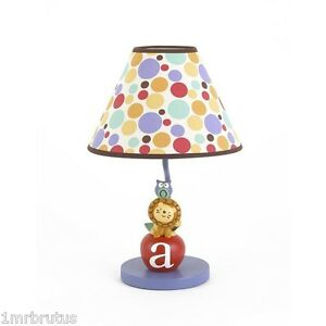 CoCaLo Alphabet Babies Lamp Boy's Nursery Kid's Room Lion Owl Colorful Lighting