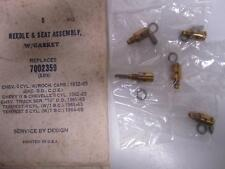 32-65 Chevrolet 6cyl Pontiac Tempest Needle & Seat Assembly (5) NORS 7002359