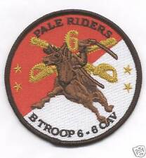 B TROOP 6-6 CAV PALE RIDERS patch