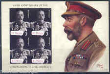 NEVIS 100th ANNIVERSARY  CORONATION  OF KING GEORGE V  IMPERFORATED SHEET NH
