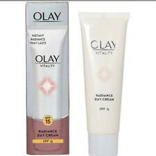 OLAY Vitality Radiance Day Cream Vitamins B3, B5 and E 50ml  SPF 15   NEW Boxed