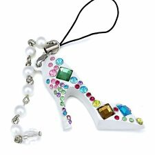 Delicate Holder Handbag Bag Key Ring High Heel Shoe Crystal Key Chain
