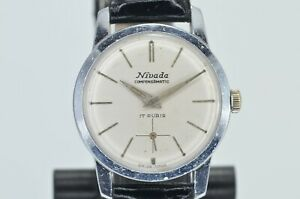 VINTAGE NIVADA COMPENSAMATIC MENS WATCH Caliber N130 WORKING