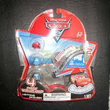 Disney pixar Cars 2 Squinkies Lightning Mcqueen 4-Pack Mini Figures with Ramp NI