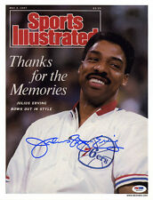 Julius Erving SIGNED Sports Illustrated Print 76ers Dr J ITP PSA/DNA AUTOGRAPHED