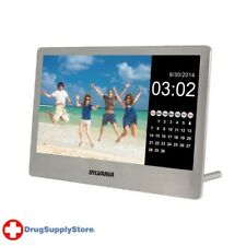 PE 7-Inch Digital Stainless Steel Photo Frame