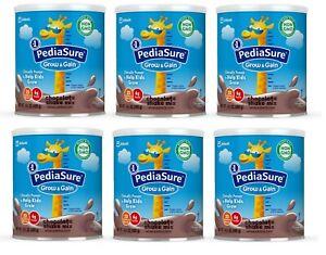 Lot of 6 Cans PediaSure Grow & Gain Gluten Free Shake Mix Powder Various Flavor