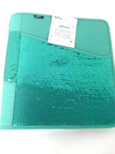 "Hilroy Zipper Binder 1.5"" 3 Ring with expanding file Green with Sequin"