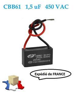 CBB61 1,5uF 450 VAC CONDENSATEUR DE DEMARRAGE MOTEUR