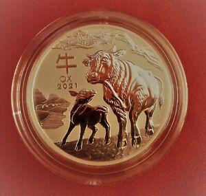 2oz Silver.9999 RAM Lunar Ox 2021 Coin