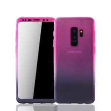 Samsung Galaxy S9 plus Cellphone Case Protective Full-Cover Foil Pink/Purple