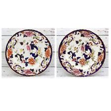Mason's Ironstone Blue Mandalay Dinner Plates - Two (x2)