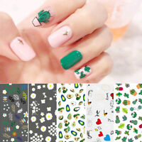 Nail Stickers Transfer Decals Cute Cactus Heart Image Nail Tips Decorations