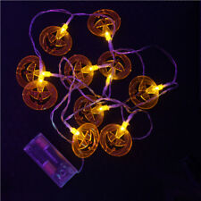 Halloween House Party Lights Battery Glowing Pumpkins Spooky Decorations
